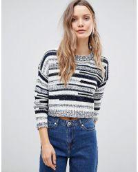 Lavand - Smudge Knit Short Sleeve Jumper - Lyst