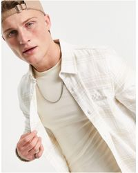Hollister Script Logo Flannel Check Shirt - White