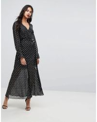 Forever New - Maxi Dress With Metallic Spot - Lyst