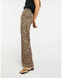 Glamorous Relaxed Wide Leg Pants - Multicolor