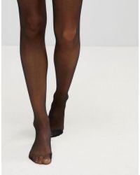 Leg Avenue Ultra Sheer 15 Denier Tights With Waist Support - Black