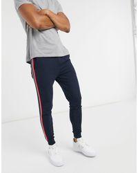 ASOS Joggers skinny blu navy con riga laterale