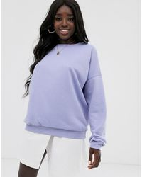 ASOS - Oversized Sweatshirt In Lila - Lyst