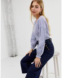 ONLY – Sommy – Gestreifte Bluse - Blau