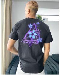 Huf Pushing Daisies Triple Triangle T-shirt - Black
