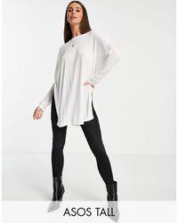 ASOS Asos Design Tall Top - White