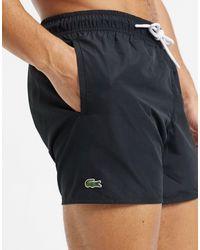 Lacoste Plain Logo Swim Shorts - Black