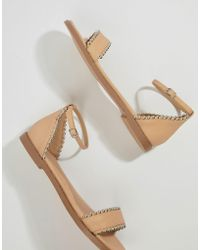 Missguided - Studded Flat Sandals - Lyst