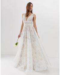Bronx and Banco Esclusiva Bronx & Banco - Emily - Vestito da sposa decorato - Bianco