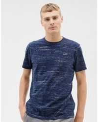 Hollister Icon Logo T-shirt In Navy Marl - Blue