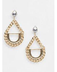 Missguided - Chain Drop Earrings - Lyst