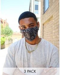 ASOS – Unisex – Gesichtsmasken mit Bandana-Muster, 5er-Pack - Mehrfarbig