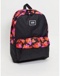Vans Черно-красный Классический Рюкзак Realm-черный Цвет