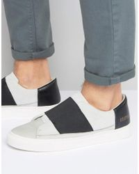 SYSTVM - Slip On Trainers With Elastic In White - Lyst