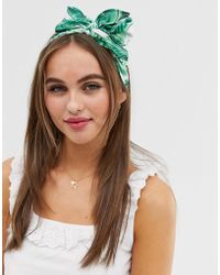ASOS Headscarf In Palm Print