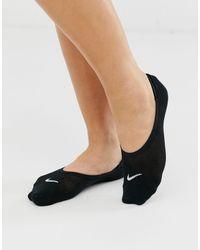 Nike 3 Пары Черных Тонких Невидимых Носков Nike Everyday-черный
