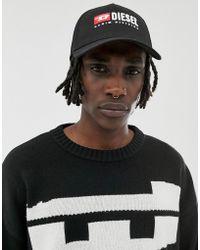 DIESEL Cappellino nero con logo