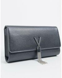 Valentino By Mario Valentino Divina Foldover Clutch Bag - Blue