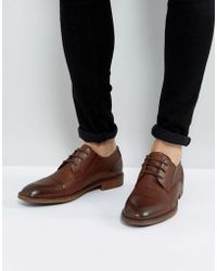 Steve Madden - Qhamtim Leather Shoes In Tan - Lyst