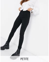 Missguided Vice High Waisted Super Stretch Skinny Jean With Belt Loops - Black