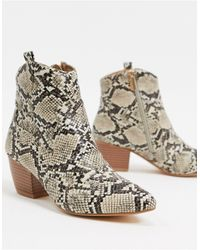 Oasis Western Ankle Boots - Multicolour