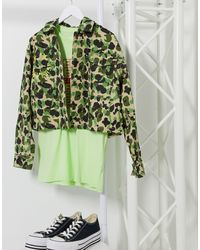 Converse Cropped Shacket - Green