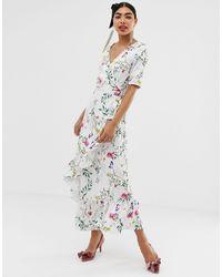 UNIQUE21 Платье Макси С Короткими Рукавами И Цветочным Узором -мульти - Многоцветный