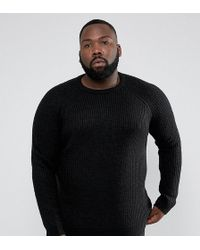 D-Struct - Plus Chunky Ribbed Crew Neck Jumper - Lyst