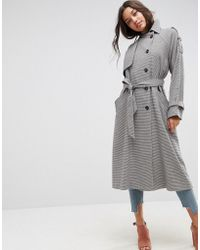 ASOS - Oversized Mac In Check - Lyst