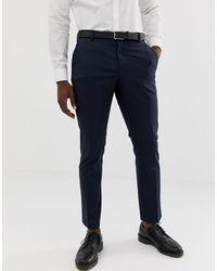 SELECTED Slim-fit Pantalon Met Stretch - Blauw