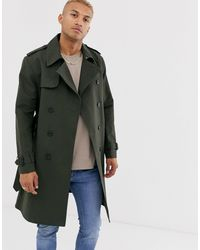 ASOS Double Breasted Trench - Green