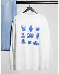 Weekday Camiseta blanca estampada - Blanco