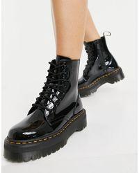 Dr. Martens Черные Лакированные Ботинки Jadon-черный Цвет