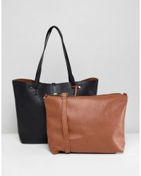 Oasis - Shopper Bag With Removable Pouch - Lyst