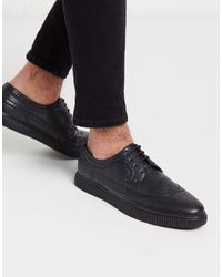 ASOS Creeper Brogue Shoes - Black