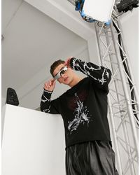 Jaded London Gothic Layered Long Sleeve T-shirt - Black