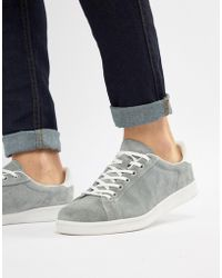 Pull&Bear - Suede Trainer In Grey - Lyst