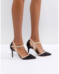 Carvela Kurt Geiger | Stud T Bar Point High Heels | Lyst