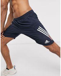 adidas Originals Темно-синие Шорты С 3 Полосками Adidas Training-темно-синий