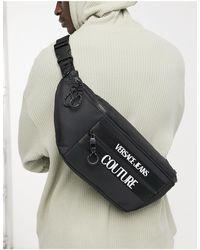 Versace Jeans Couture Черная Сумка-кошелек На Пояс С Логотипом -черный Цвет - Многоцветный