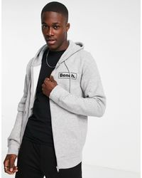 Bench Full Zip Logo Hoodie - Grey
