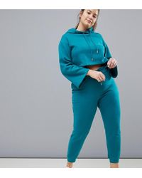 South Beach - Plus Paperbag Joggers In Teal Blue - Lyst