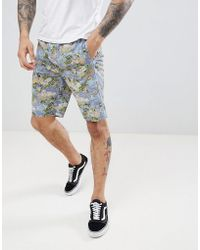 D-Struct - Printed Summer Co-ord Shorts - Lyst