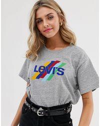 Levi's Футболка С Принтом -серый - Многоцветный