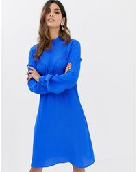 Closet Robe trapèze manches longues - Bleu