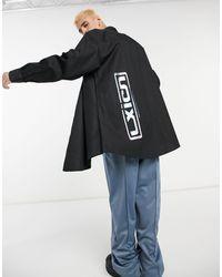 ASOS Camicia super oversize con stampa olografica sul retro nera - Nero