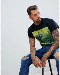 Abuze London - Abuze Ldn Great Wave Print T-shirt - Lyst