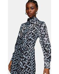 TOPSHOP - Print Editor Mini Dress - Lyst