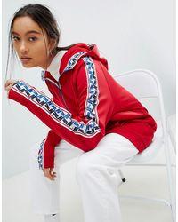 Nike Красная Спортивная Куртка С Молнией И Отделкой Лентой - Красный