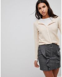 Mango | Textured Jersey Cardigan | Lyst